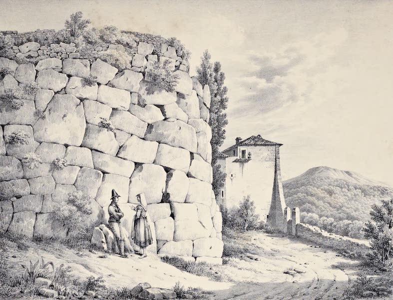 Views and descriptions of Cyclopian, or, Pelasgic remains - Walls at Cora [II] (1834)