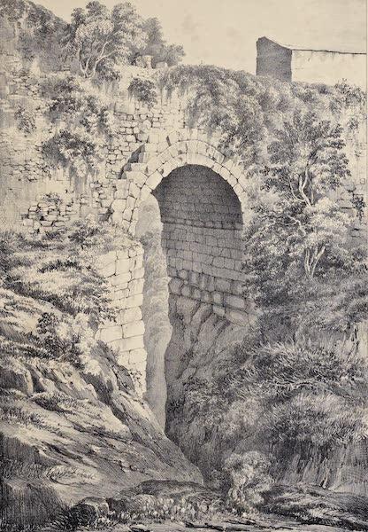 Views and descriptions of Cyclopian, or, Pelasgic remains - Bridge at Cora (1834)