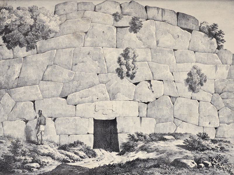 Views and descriptions of Cyclopian, or, Pelasgic remains - Subterraneous Gate at Alatrium (1834)