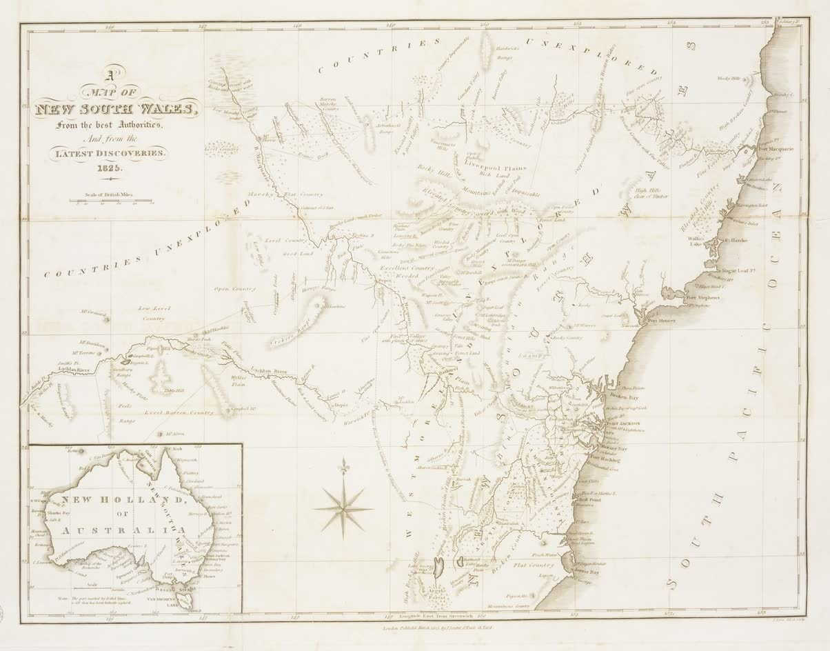 Views in Australia or New South Wales - A Map of New South Wales (1825)