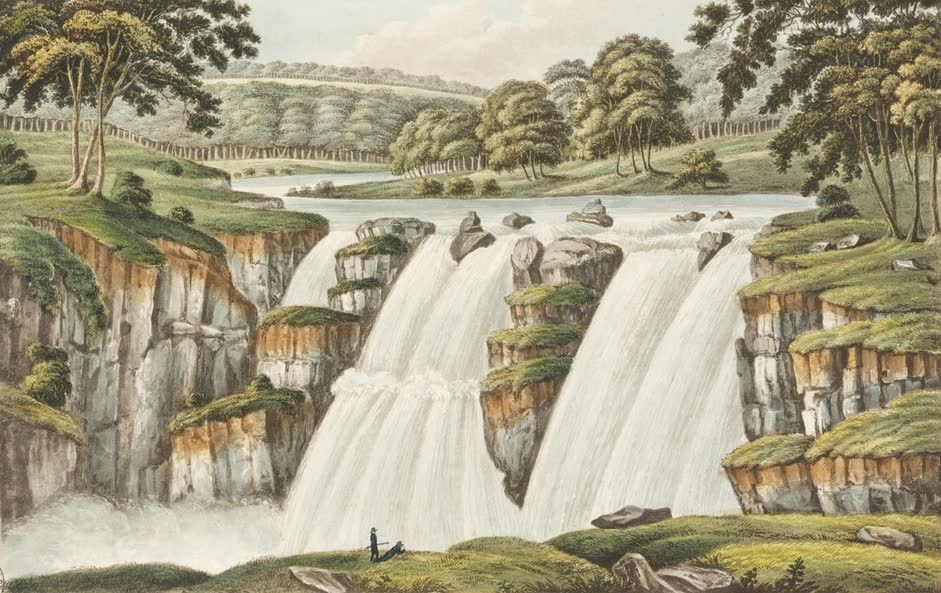 Views in Australia or New South Wales - Bathurst Cataract on the River Apsley (1825)