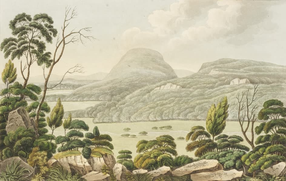Views in Australia or New South Wales - Ben Lomond from Arnold's Heights (1825)