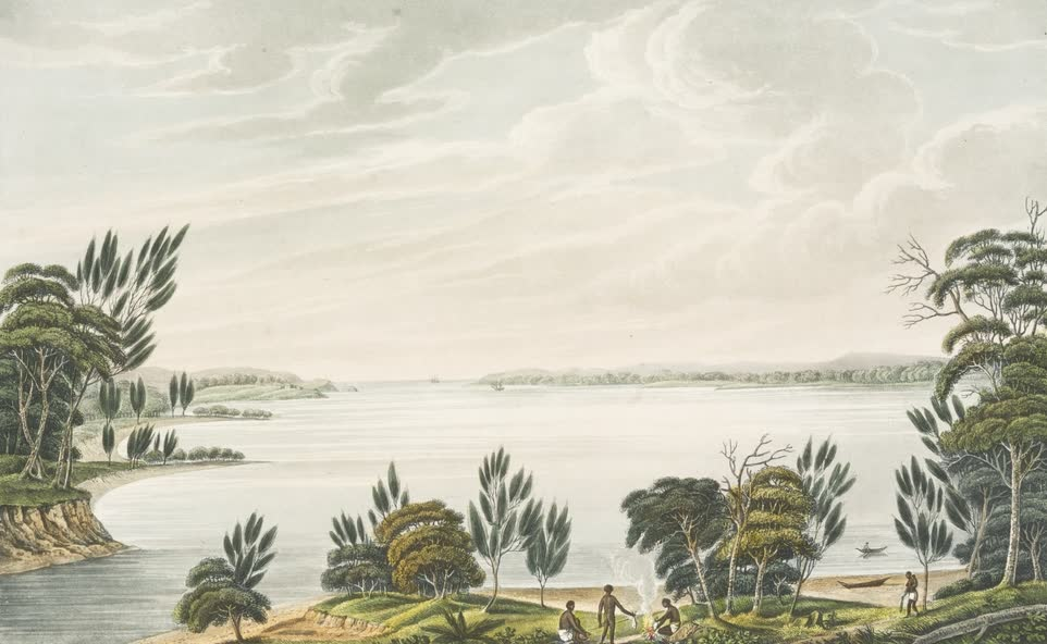 Views in Australia or New South Wales - Botany Bay, New South Wales (1825)