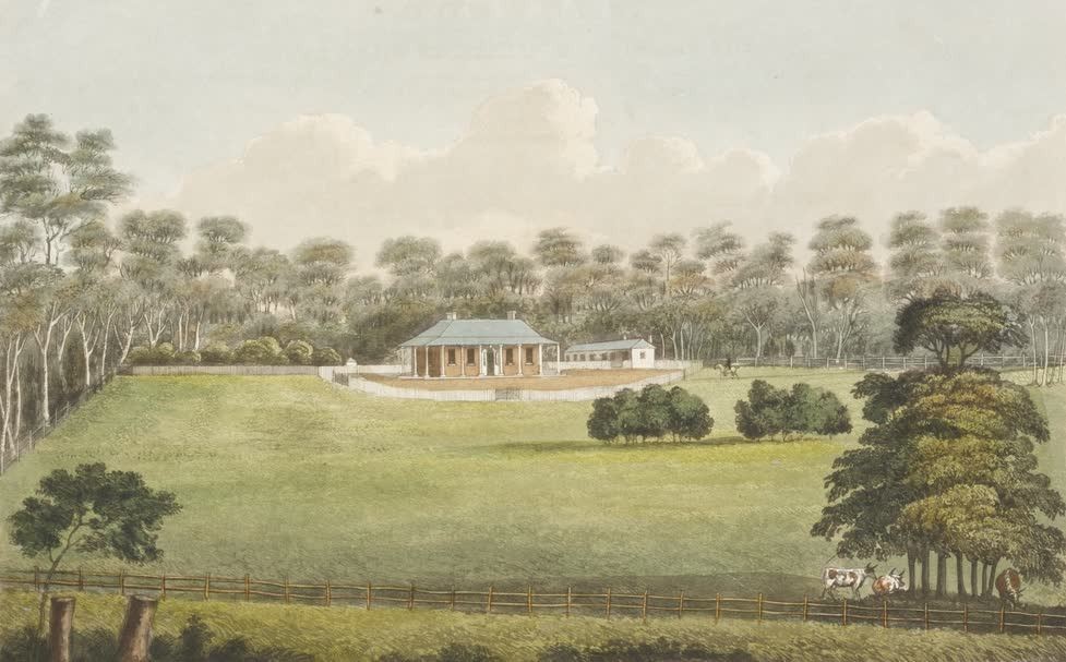Views in Australia or New South Wales - Burwood Villa (1825)