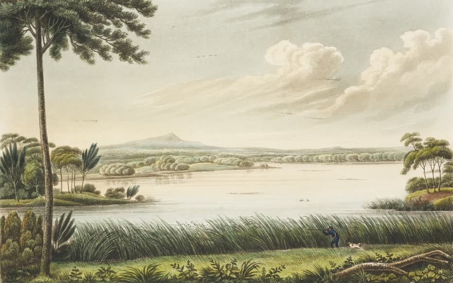 Views in Australia or New South Wales - Lake Patterson, near Patterson's Plains  (1825)