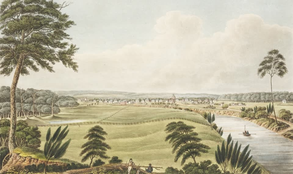 Views in Australia or New South Wales - Liverpool, New South Wales (1825)