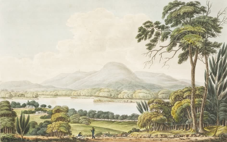 Views in Australia or New South Wales - Mount Direction near Hobart Town (1825)