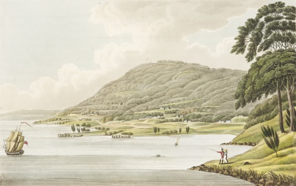 Views in Australia or New South Wales - Mount Nelson near Hobart Town (1825)