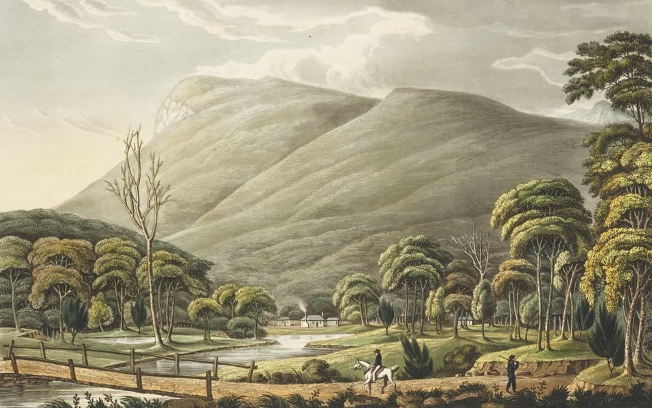 Views in Australia or New South Wales - Mount Wellington near Hobart Town (1825)