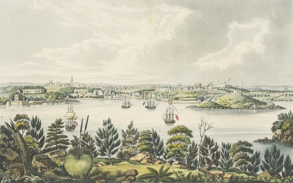 Views in Australia or New South Wales - North View of Sidney, New South Wales (1825)
