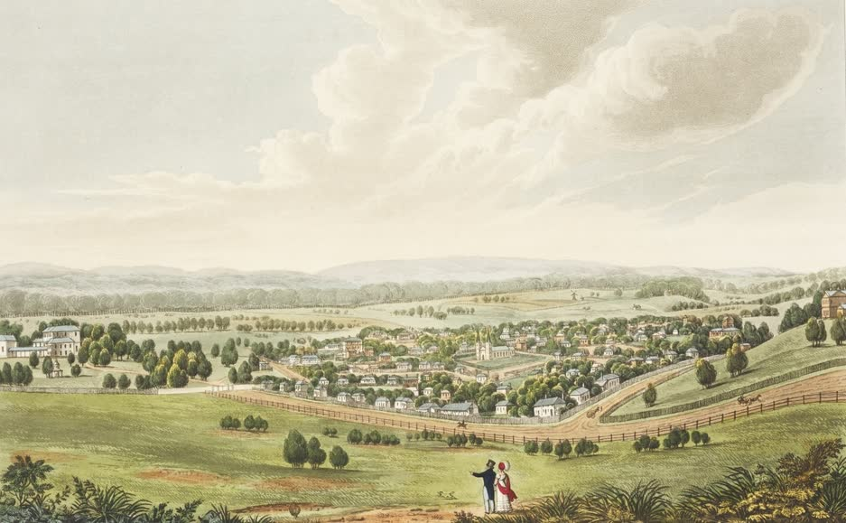Views in Australia or New South Wales - Parramatta, New South Wales (1825)