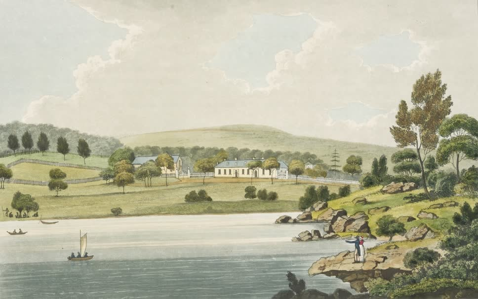 Views in Australia or New South Wales - Residence of Edward Riley, Wooloomooloo (1825)