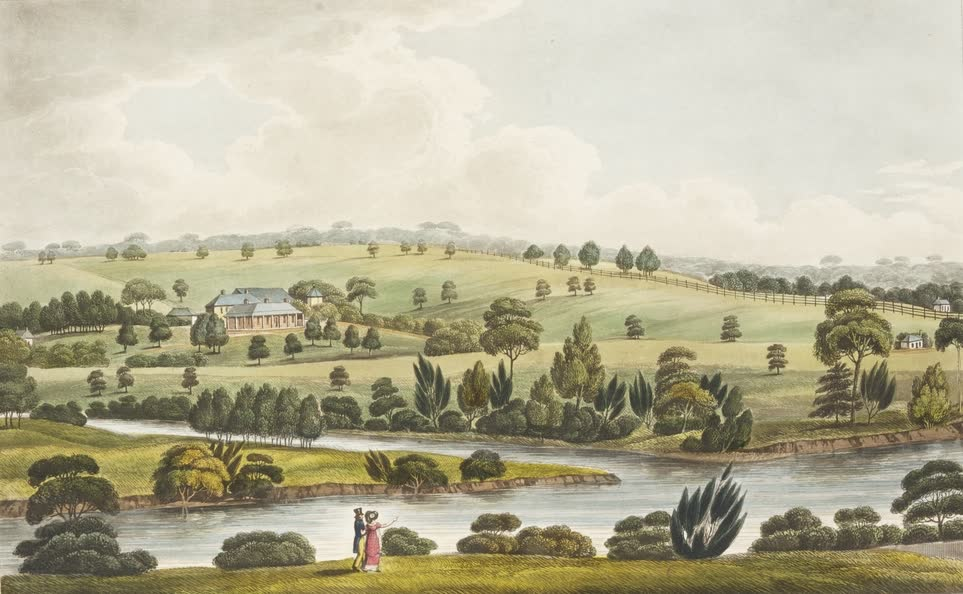 Views in Australia or New South Wales - Residence of John McArthur (1825)