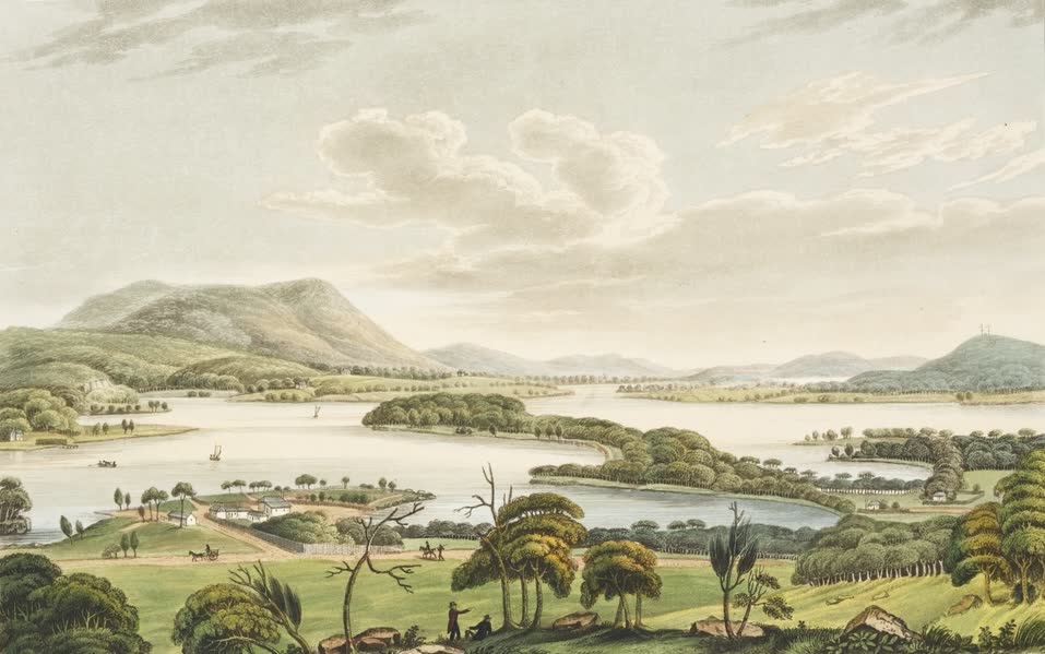 Views in Australia or New South Wales - Roseneath Ferry (1825)