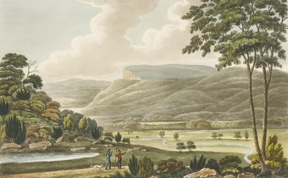 Views in Australia or New South Wales - The Table Mountain (1825)