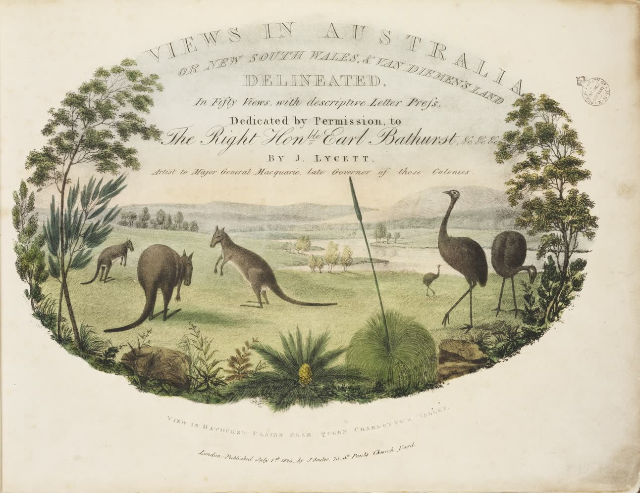 Views in Australia or New South Wales - Title Page (1825)