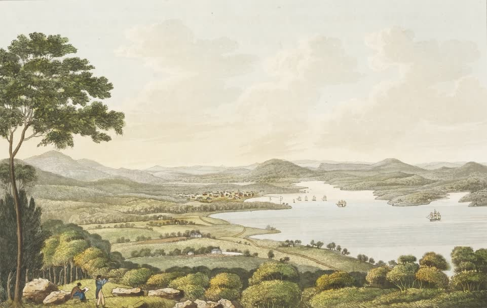 Views in Australia or New South Wales - View from the Top of Mount Nelson (1825)