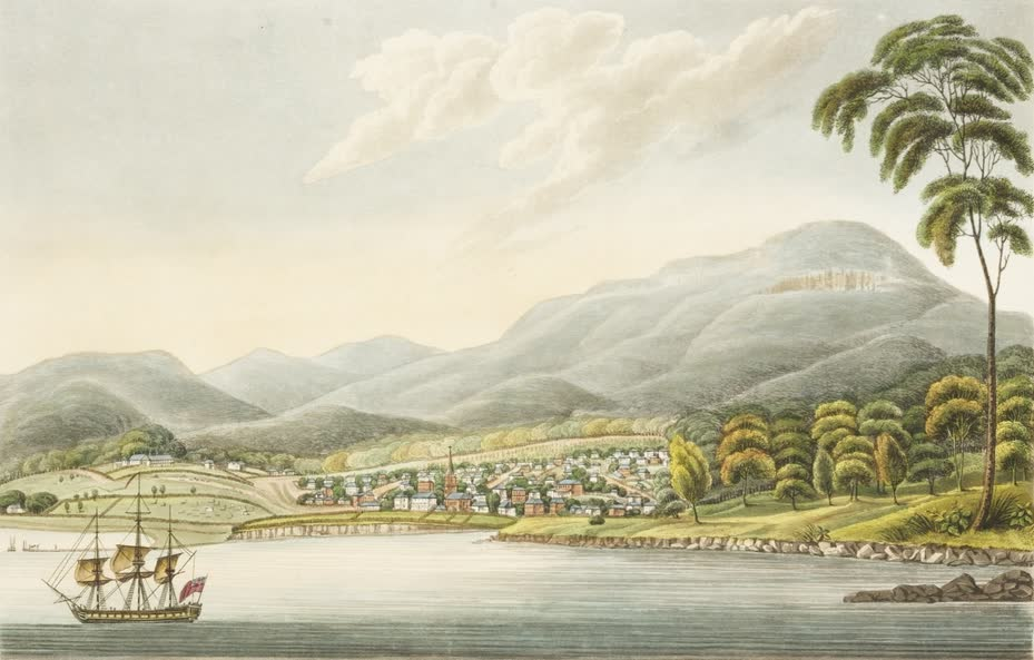 Views in Australia or New South Wales - View of Hobart Town (1825)