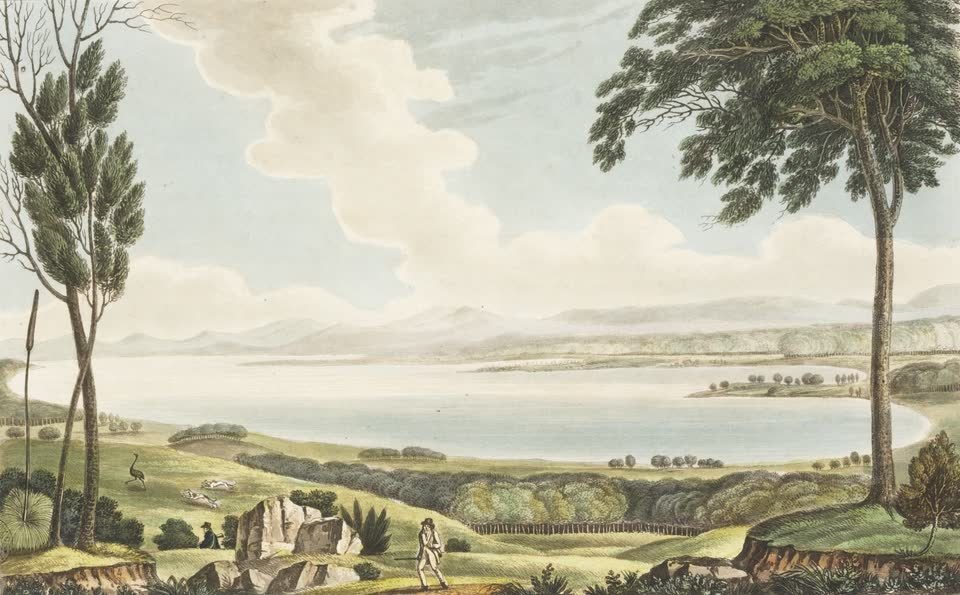 Views in Australia or New South Wales - View of Lake George (1825)