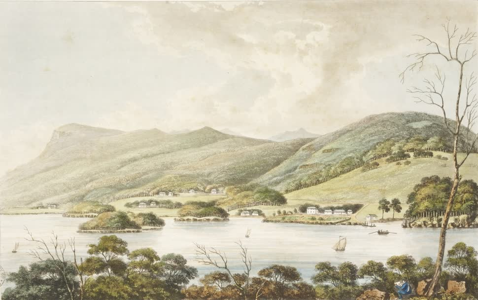 Views in Australia or New South Wales - View of Roseneath Ferry taken from the East Side (1825)