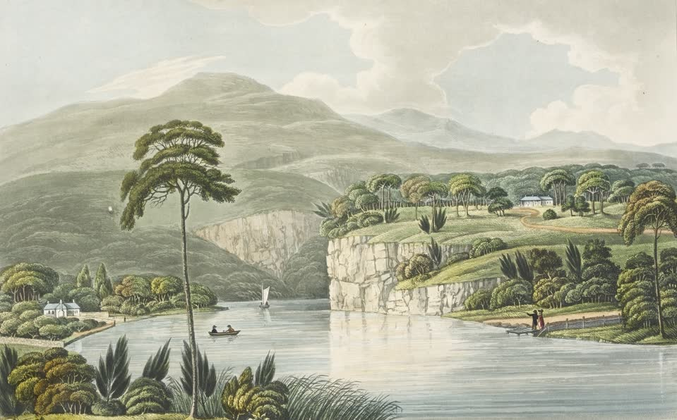 Views in Australia or New South Wales - View of the Governor's Retreat, New Norfolk (1825)