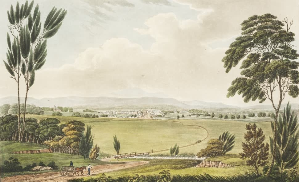 Views in Australia or New South Wales - View of Windsor (1825)