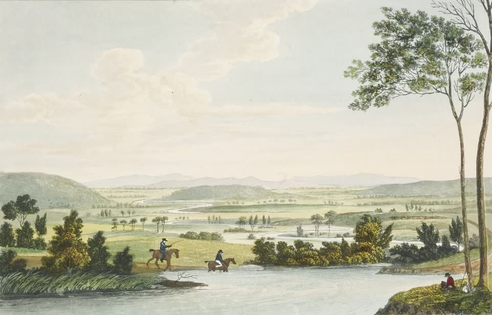 Views in Australia or New South Wales - View on the Macquarie River (1825)