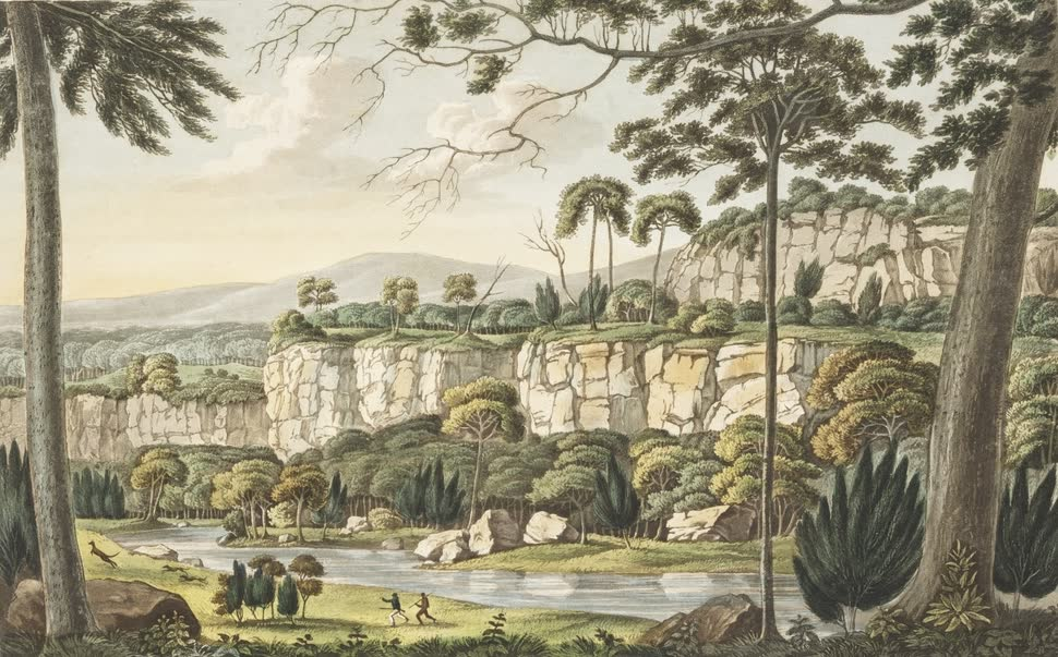 Views in Australia or New South Wales - View on the Wingeecarrabee River (1825)