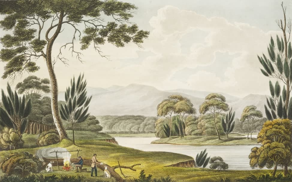 Views in Australia or New South Wales - View Upon the South Esk River (1825)