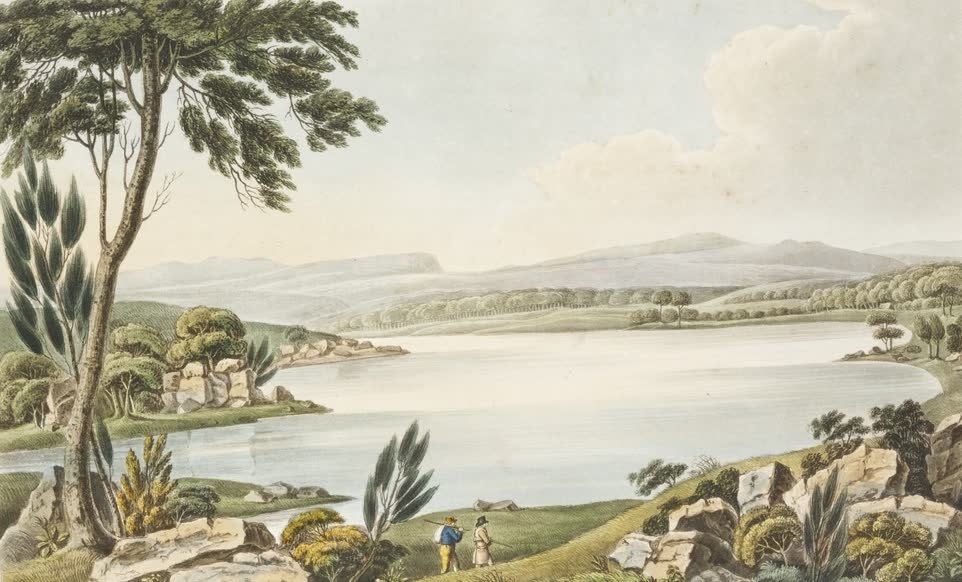 Views in Australia or New South Wales - Western or Boundary Lake (1825)