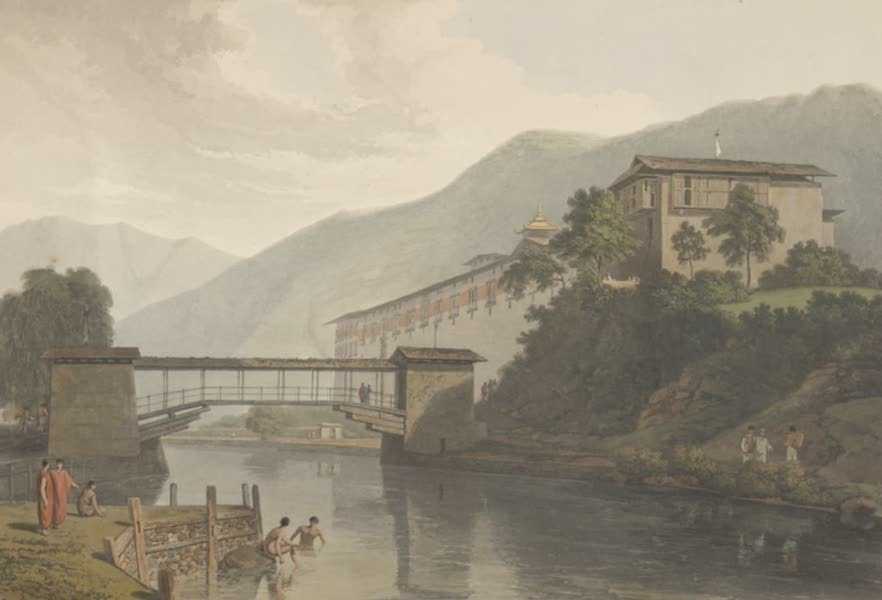 Views in Bootan - View of Tassisudon (1813)