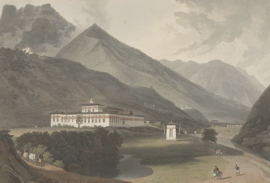 Views in Bootan - The Palace of the Deib Rajah at Tassisudon (1813)