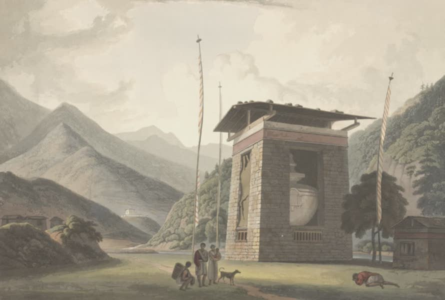 Views in Bootan - A Temple of Bode (1813)
