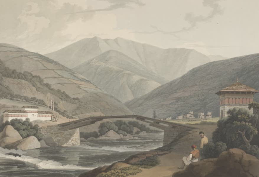 Views in Bootan - View on the River Teenchoo (1813)