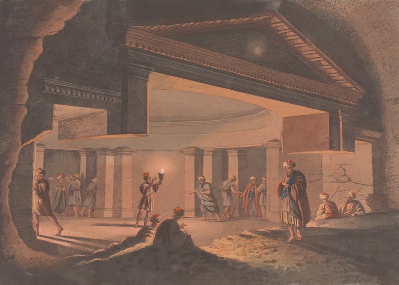 Interior view of the Catacombs at Alexandria