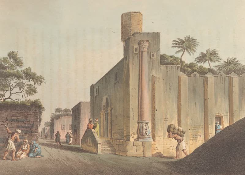 A Mosque with an antique fragment in Old Alexandria near the Gate of Rosetta