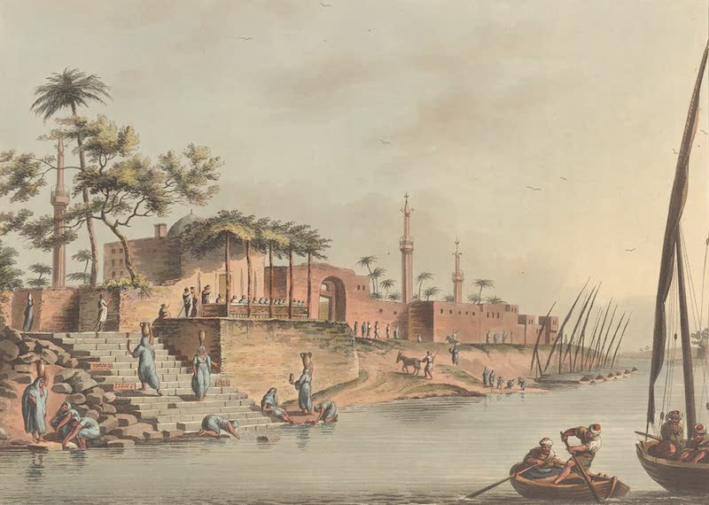 The town of Foua on the banks of the Nile