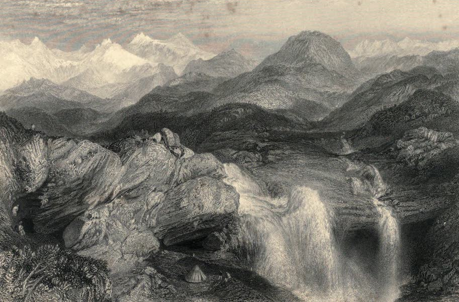 Views in India, chiefly among the Himalaya Mountains - Falls near the Source of the Jumna (1836)