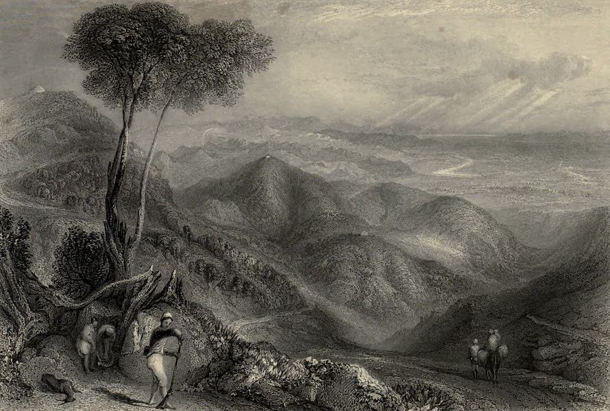 Views in India, chiefly among the Himalaya Mountains - Valley of the Dhoon, with the Ganges in the distance, from the Landour Ridge (1836)