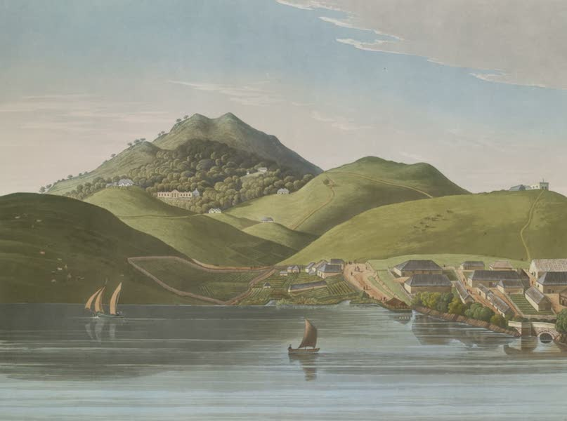 Views in India, Chiefly Among the Neelgherry Hills - A View of the Late Sir William Rumbold's House & the West End of the Bazaar (1837)