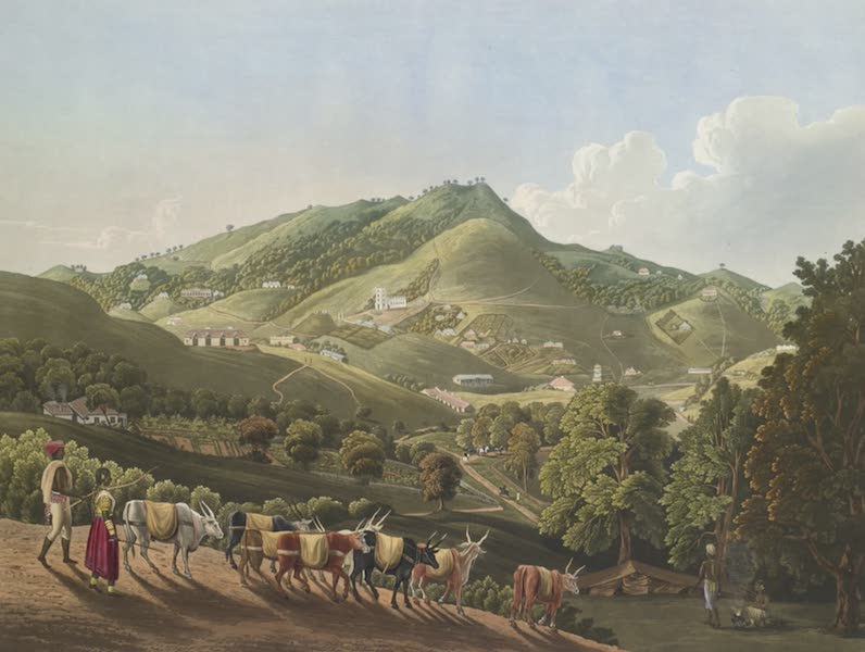 Views in India, Chiefly Among the Neelgherry Hills - A General View of Ootacamund (1837)