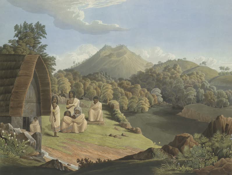Views in India, Chiefly Among the Neelgherry Hills - Taken at Kandelmund. The Toda Family Inhabiting (1837)