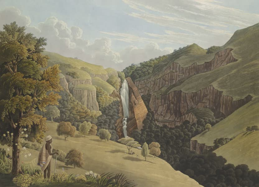Views in India, Chiefly Among the Neelgherry Hills - The Kaitee Waterfall, as seen from the road exactly opposite, looking West (1837)