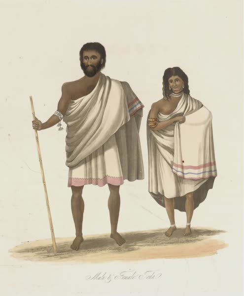 Views in India, Chiefly Among the Neelgherry Hills - Male and Female Toda (1837)