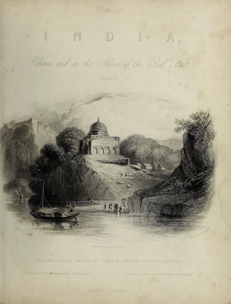 Views in India, China, and on the Shores of the Red Sea - Illustrated Title Page (1835)
