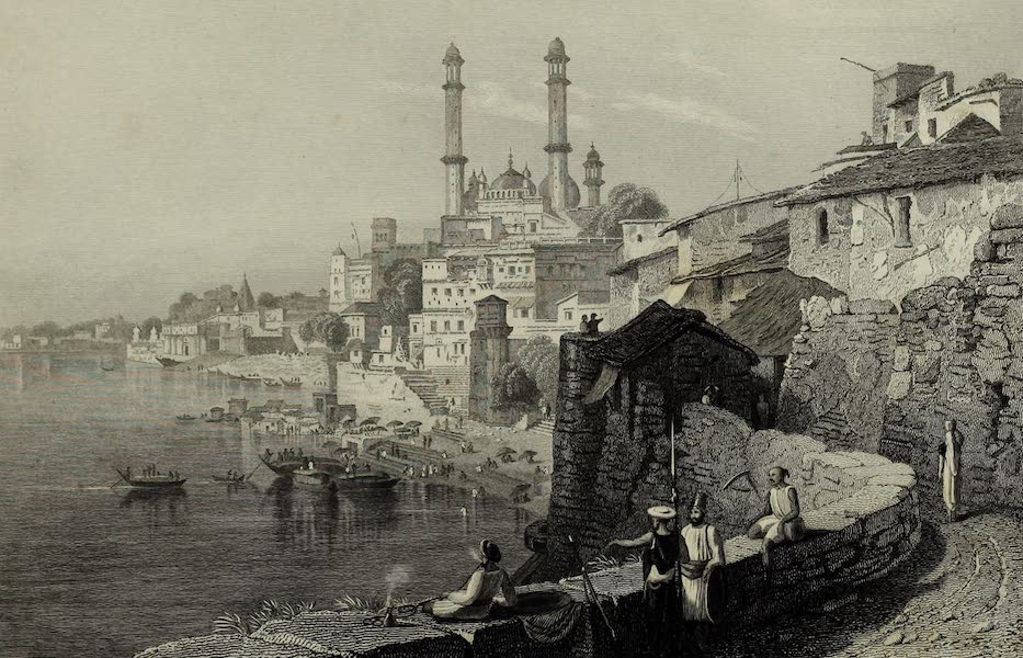 Views in India, China, and on the Shores of the Red Sea - Aurengzebes Mosque at Benares (1835)