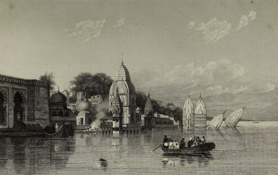 Views in India, China, and on the Shores of the Red Sea - Hindoo Temple, Benares (1835)