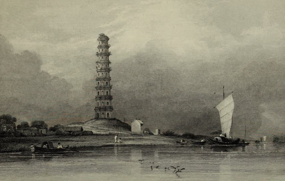 Views in India, China, and on the Shores of the Red Sea - Chinese Pagodah between Canton and Whampoa (1835)