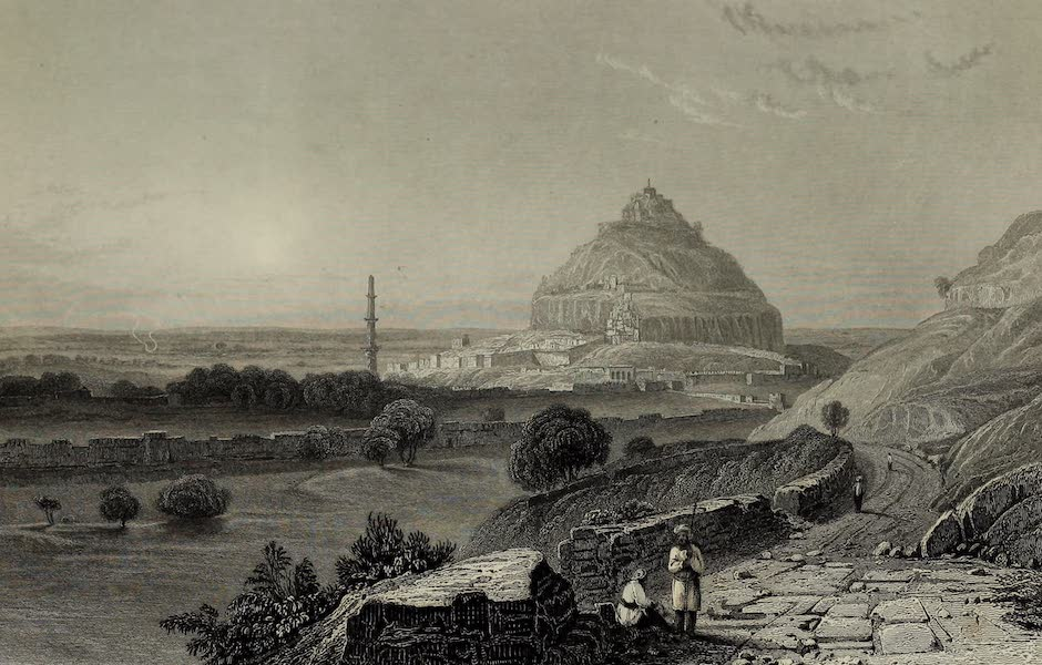 Views in India, China, and on the Shores of the Red Sea - The Fortress of Dowlutabad (1835)