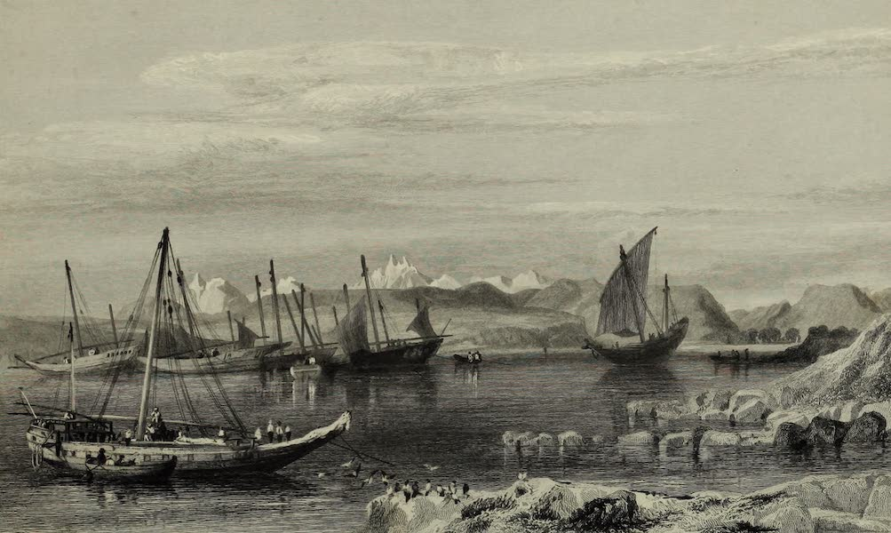 Views in India, China, and on the Shores of the Red Sea - Thubare, A Small Harbour of the Arabian Coast, Upper Part of the Red Sea (1835)